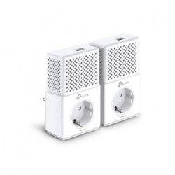 TP-LINK Pack de 2 Adaptateurs CPL avec prise intégrée -TL-PA7010P KIT - 1000 Mbps