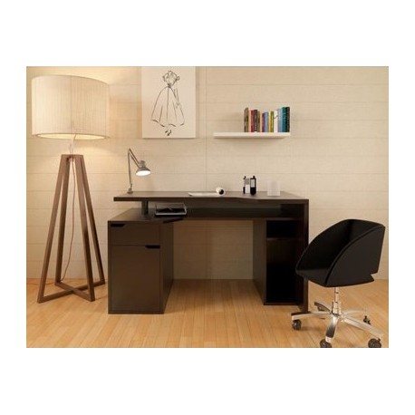 ventury bureau 160 x 70cm noir ebay. Black Bedroom Furniture Sets. Home Design Ideas