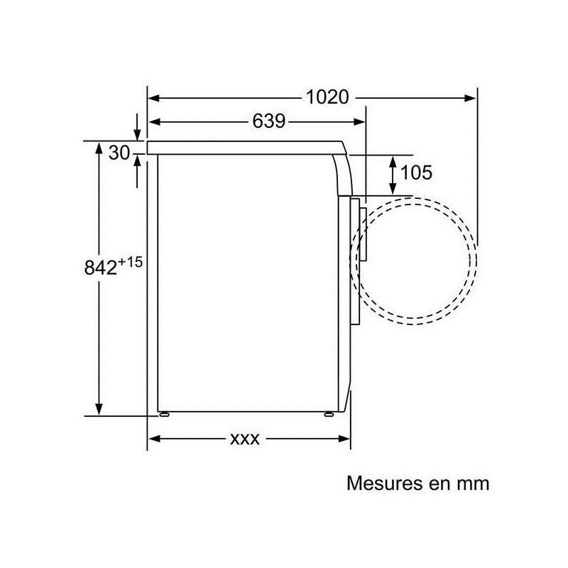 s che linge condensation bosch wte84104ff. Black Bedroom Furniture Sets. Home Design Ideas