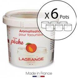 LAGRANGE Lot de 6 pots d'aromatisation pour yaourts Peche
