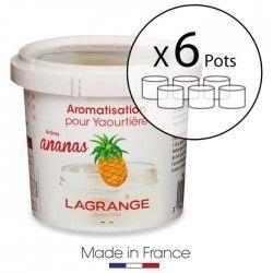 LAGRANGE Lot de 6 pots d'aromatisation pour yaourts Ananas