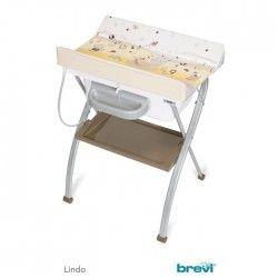 LINDO Table a langer pliante PLOUF - Caramel