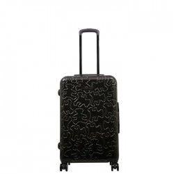 LULU CASTAGNETTE Valise Rigide ABS & Polycarbonate 8 Roues 65 cm OXF Dark Grey