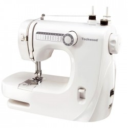 TECHWOOD TMAC-608 Machine a coudre - 10 pts - Blanc