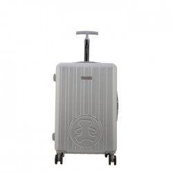 LULU CASTAGNETTE Valise Rigide ABS 8 Roues 65 cm GDE Silver