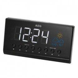 AEG MRC 4141P Radio Réveil + Projecteur + LED + Affichage Météo