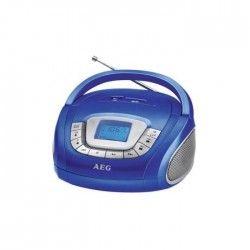 AEG SR 4373BL Boombox Radio Stéréo Aux-In + USB Port - Blanc