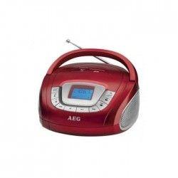 AEG SR 4373RD Boombox Radio Stéréo Aux-In + USB Port - Rouge