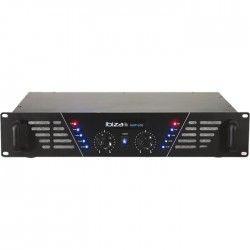IBIZA AMP600 Amplificateur de sonorisation 2 x 480W - Noir