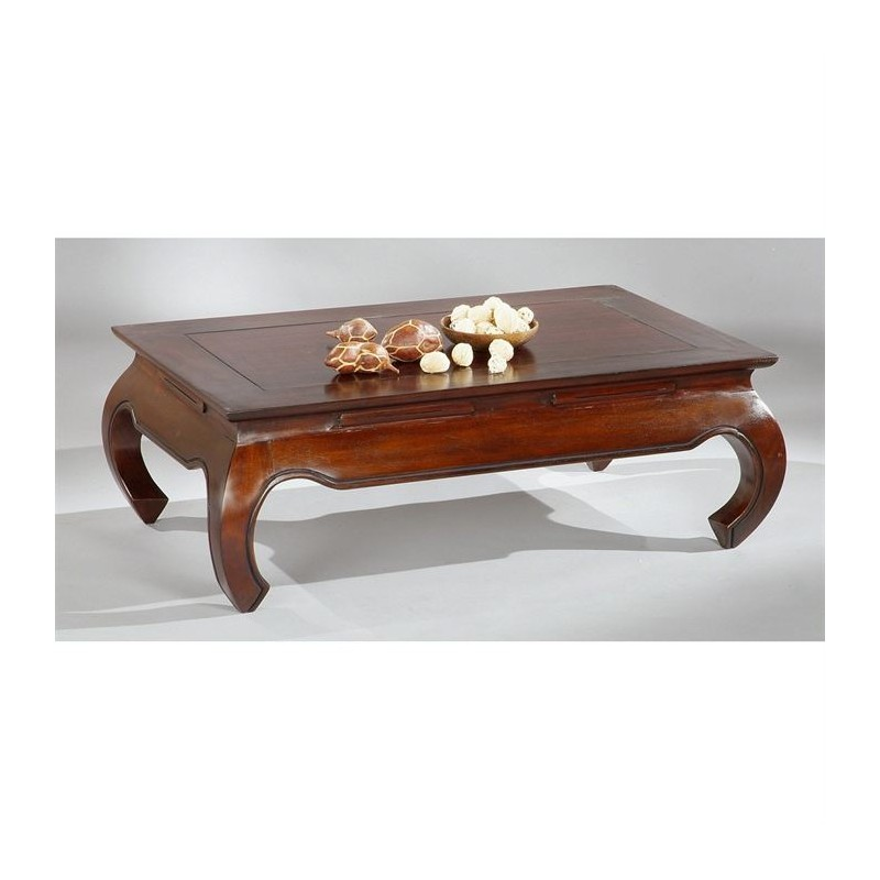 Osia table basse acajou rectangulaire 120x75x35 cm - Le bon coin table basse de salon ...