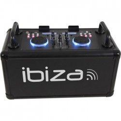 IBIZA SOUND DANCE-PARTY - Systeme de sonorisation DJ mobile avec Bluetooth - 200W - Noir