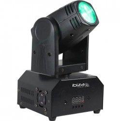 IBIZA LMH250-RC Lyre Beam a LED RVBB 10W DMX avec télécommande