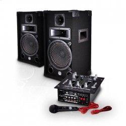 MYDEEJAY MDJ 150 Pack Sono 150W - Table de mixage amplifiée + 2 enceintes sono