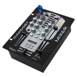 IBIZA DJM150USB-BT Table de mixage a voies/5 canaux avec USB-MP3, afficheur digital et Bluetooth