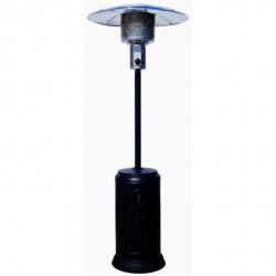 SHINE Parasol chauffant gaz peint noir 11kW