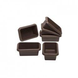 LURCH Lot de 6 mini moules - Bosses - Marron