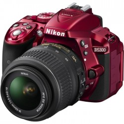 NIKON D5300 Appareil photo numérique Reflex + Objectif 18-55 VR - Rouge