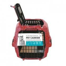 MPETS Cage de transport Bandana- Pour chien - 46x31x23cm - Rose