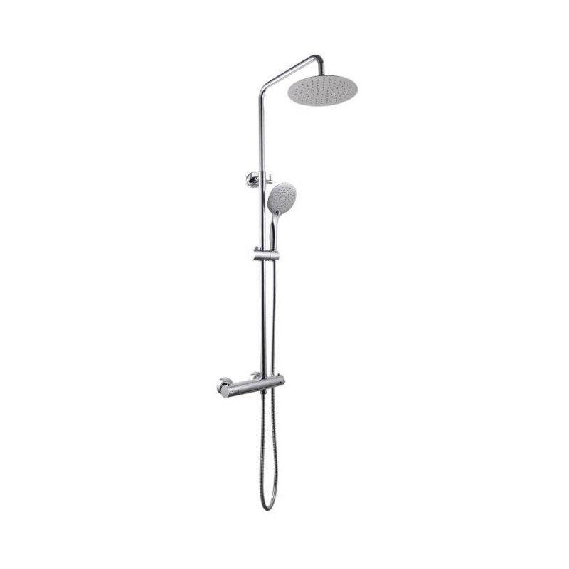 Sarodis colonne de douche fusion 30 avec mitigeur for Porte pommeau de douche