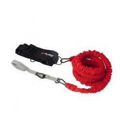 PURE2IMPROVE Cordon de résistance d`exercice 2,4 metres - Fitness - Noir/Gris/Rouge