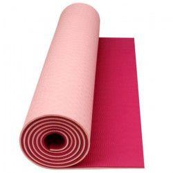 AVENTO Tapis de sol fitness / yoga 6 mm - Rouge / Gris