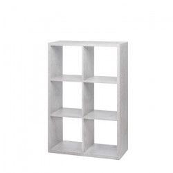 MAX6 Etagere avec 6 cubes - Béton clair - L 73 cm