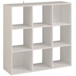 KAME Étagere meuble contemporain décor blanc mat - L 91 cm