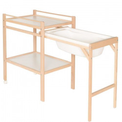 GEUTHER Table a Langer Coulissante Emma Naturelle Blanche