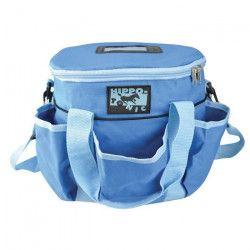 HIPPO-TONIC Kit de pansage ?Pro 3? - Bleu - L 28 x l 18 x h 23 cm