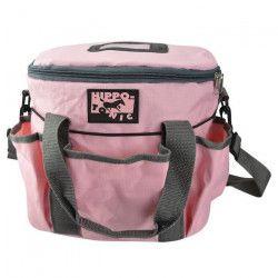 HIPPO-TONIC Kit de pansage ?Pro 3? - Rose - L 28 x l 18 x h 23 cm