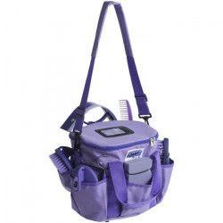 HIPPO-TONIC Kit de pansage ?Pro 3? - Violet - L 28 x l 18 x h 23 cm