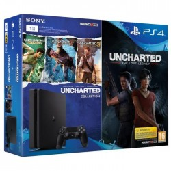 Nouvelle PS4 1 To + 4 jeux : Uncharted The Lost Legacy + Uncharted Collection (Drake`s Fortune +Among Thieves