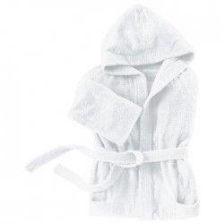 SANTENS Peignoir Capuche COCOONING Blanc - Taille XL