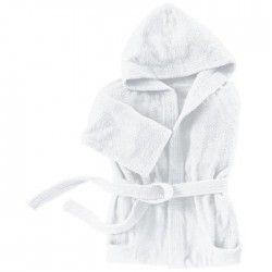 SANTENS Peignoir Capuche COCOONING Blanc - Taille XXL