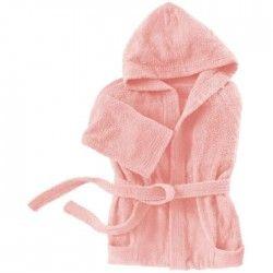 SANTENS Peignoir Capuche COCOONING Rose - Taille XL