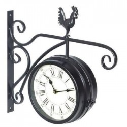 XCLOCK Horloge en métal Gare - Diametre 29 cm
