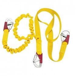 PLASTIMO Longe double elast 3 mousquetons double sécurité