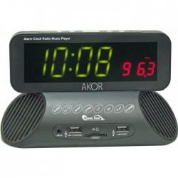 FINESOUND RV900 Radio-réveil station d`accueil -MP3, USB, carte SD, Aux-in - Noir