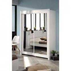 GALA Rangement coulissant contemporain décor blanc - L 182 cm