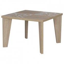 ARTIC Table basse carrée scandinave décor chene - L 60 cm