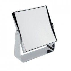 GERSON Miroir a poser grossissant - Chromé - 15x15 cm - H19 cm