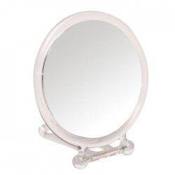 GERSON Miroir grossissant a poser ou face a main - Transparent - Ø14 cm - H26 cm
