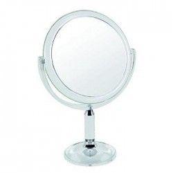 GERSON Miroir sur pied grossissant - Transparent - Ø18 cm - H30cm