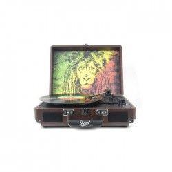 DUAL DL-I-REGGAE Valise platine Vinyle avec album Bob Marley inclus