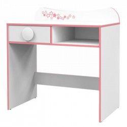 PITCHOU Bureau contemporain mélaminé blanc - L 85 cm