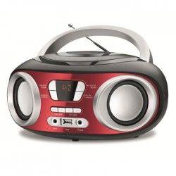 DUAL DL-BBU14R Boombox Bluetooth - 2x3W - Rouge et Noir