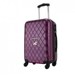 CHIPIE Valise Cabine Rigide ABS & Polycarbonate 4 Roues 55 cm BHL Purple