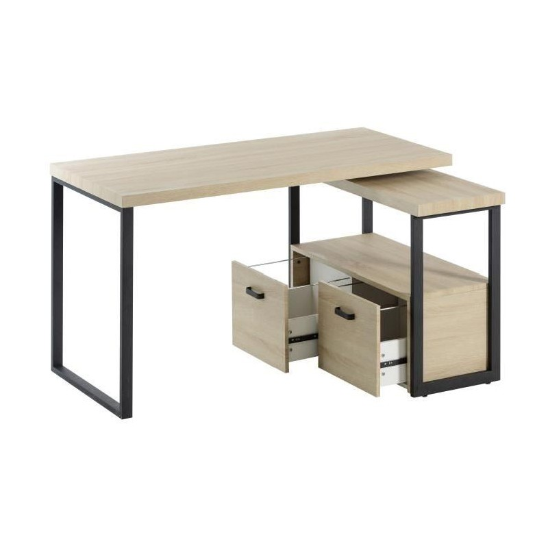 urban bureau d angle scandinave en m tal noir. Black Bedroom Furniture Sets. Home Design Ideas