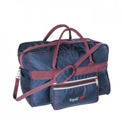 EQUI-THEME Grand sac multi-usages Collection Equit`M - L 58 x l 30 x H 40 cm - Bleu Marine / Bordeaux