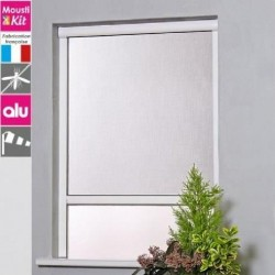 Moustiquaire enroulable en aluminium pour fenetre L100 x H160 cm marron - MOUSTIKIT